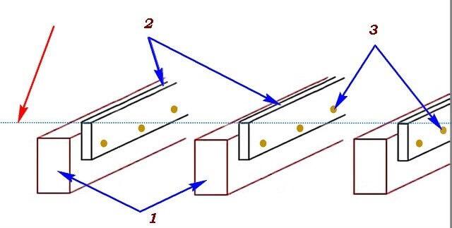 Схема бокового крепление лаг к балкам