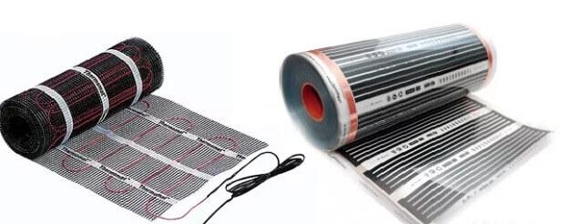 электрический теплый пол под линолеум состоит из нагревательного кабеля или инфракрасной пленки