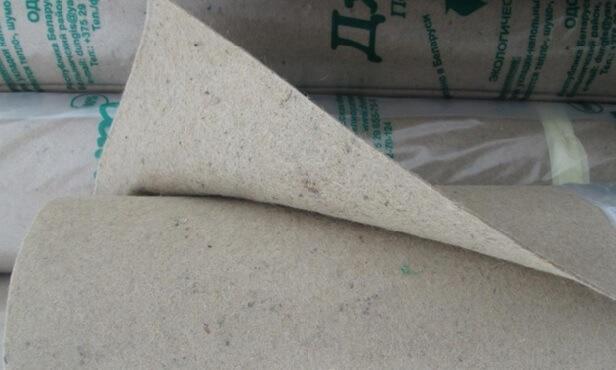 Рулоны джутовой подложки под линолеум