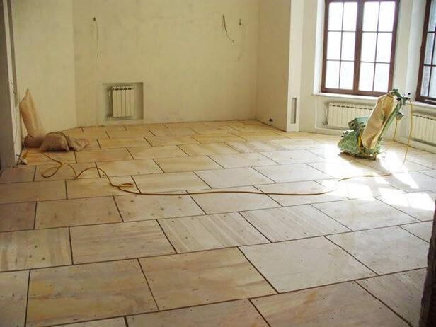 фанерный пол под линолеум на бетонный пол