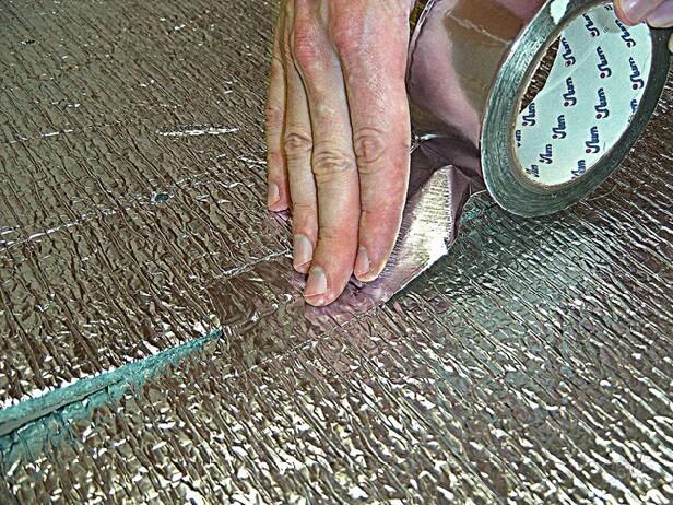 Фольгированная подложка под линолеум на теплый пол