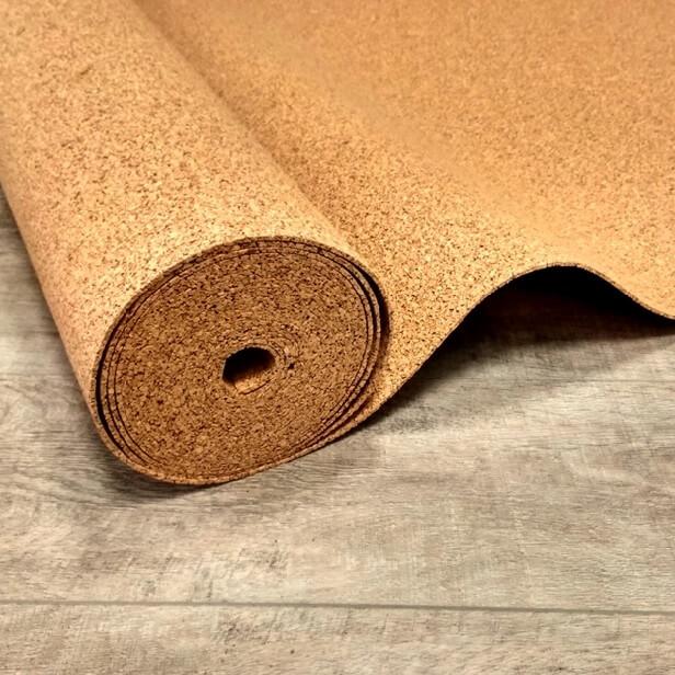 подложка из прессованной коры пробковой древесины под линолеум на деревянный пол
