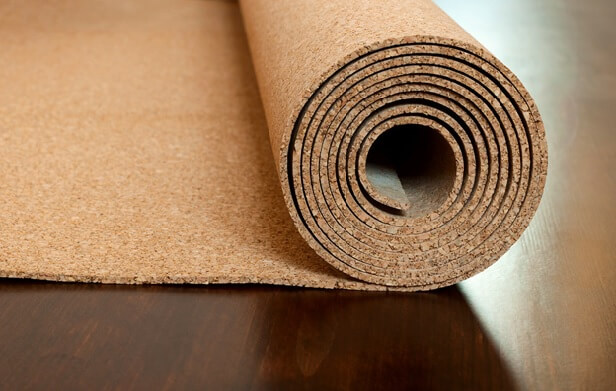 Пробковое полотно под линолеум на деревянный пол