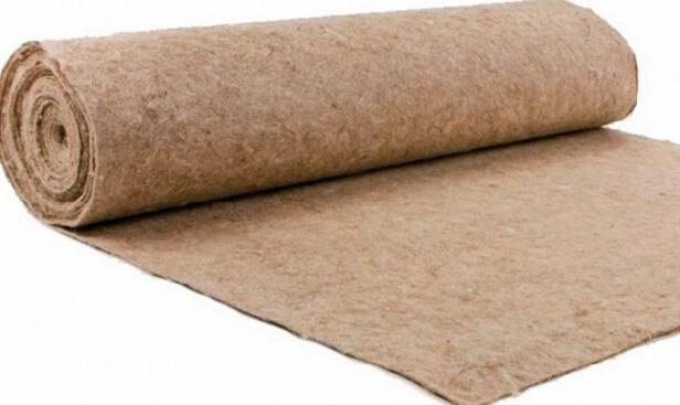 Рулон джутовой подложки под линолеум на бетонный пол