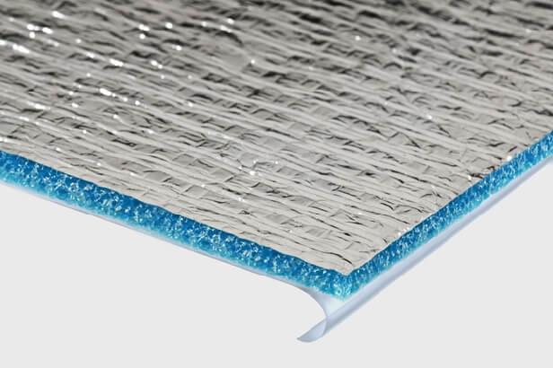 Структурный вид фольгированной подложки под линолеум