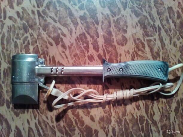 Молотковый паяльник для соединение линолеума к линолеуму
