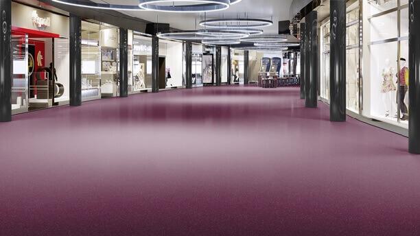 коммерческий линолеум в торговом центре