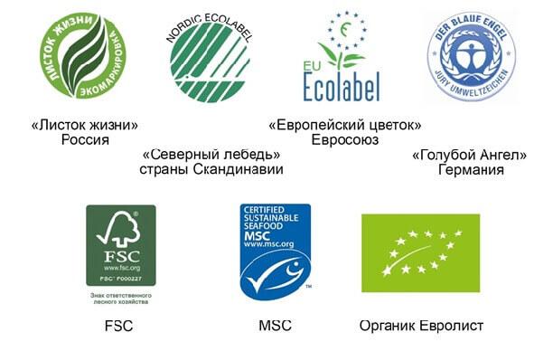 Виды экомаркировки для напольных покрытий