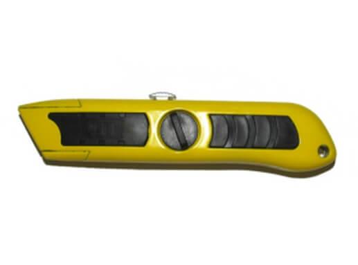 Нож с выдвижным лезвием для ремонт линолеума с дырой