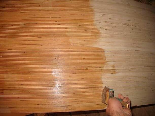 обработка лаком фанеры на пол под линолеум