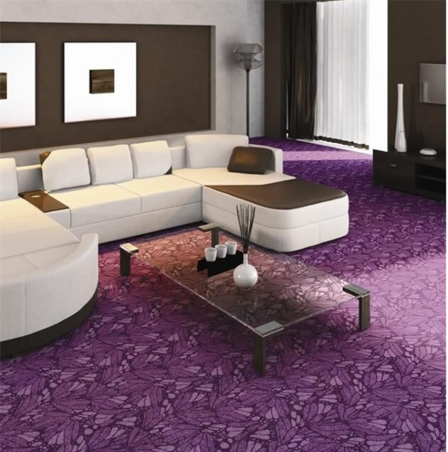 Фиолетовый цвет линолеума с узором