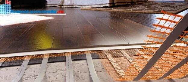 устройство аморфного теплого пола электрического под ламинат
