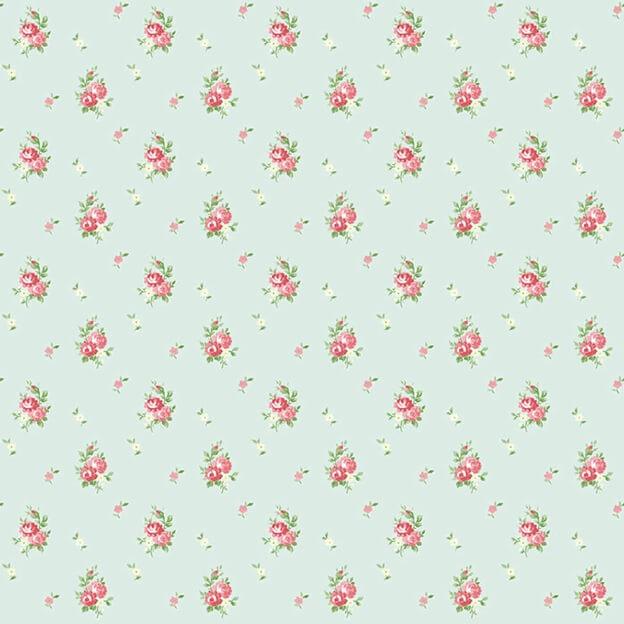 образец линолеума с цветочками