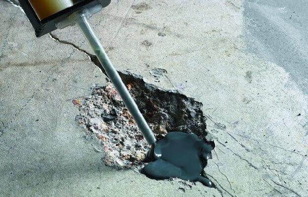 Ремонт эпоксидным составом бетонного пола под ламинат