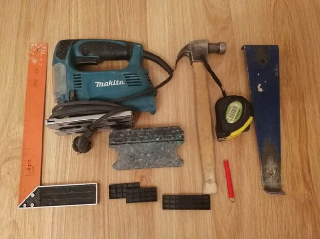 инструменты для укладки ламината на водяной теплый пол