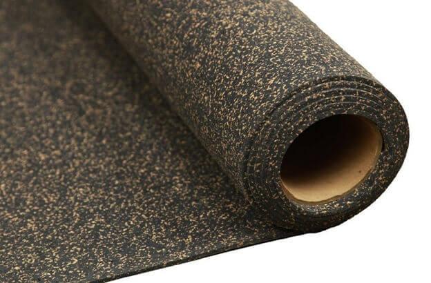 Рулон подложки под ламинат из пробки и битума