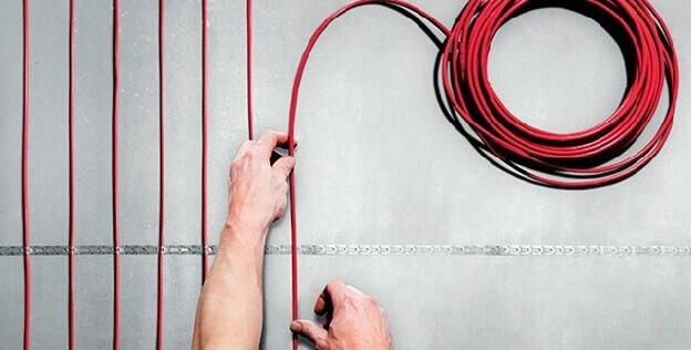 Укладка кабельного теплого пола под ламинат
