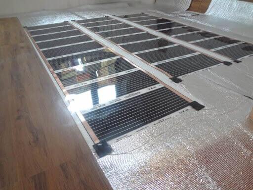 установка инфракрасного теплого пола под ламинат на подложку во весь пол