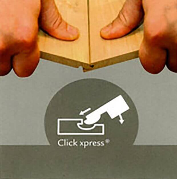 Схема соединения замка ламината Click Xpress