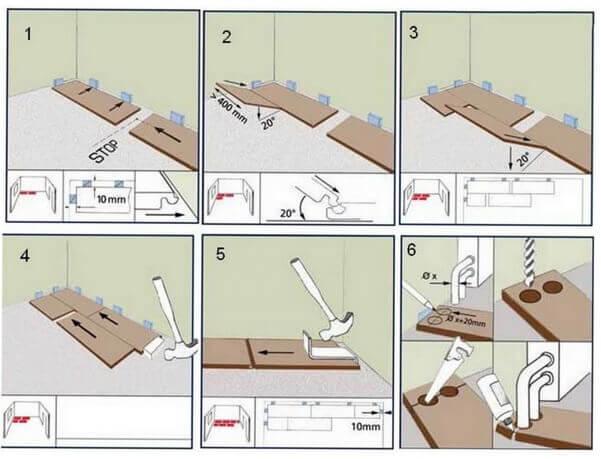 Инструкция по укладки ламината с замком в картинках