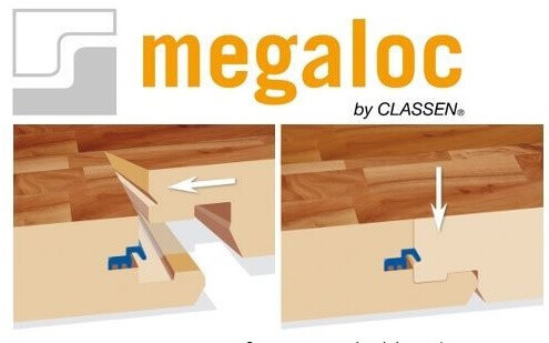 Соединение замка ламината Megaloc (Classen)