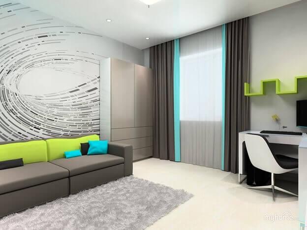 цвет ламината белёный дуб в интерьере комнаты