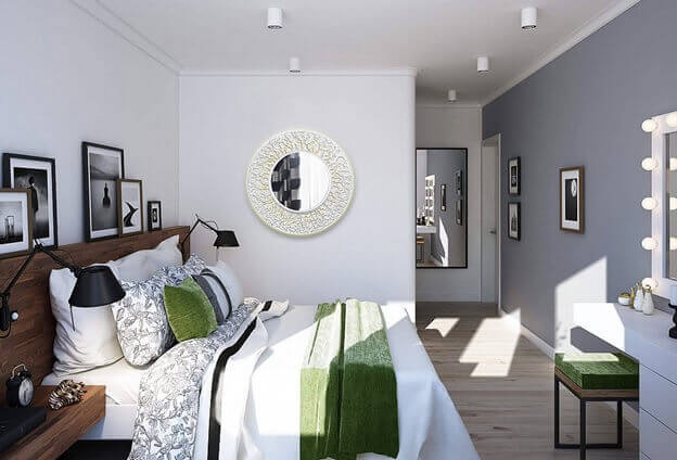 цвет ламината светло-коричневый на полу в комнате в скандинавском стиле
