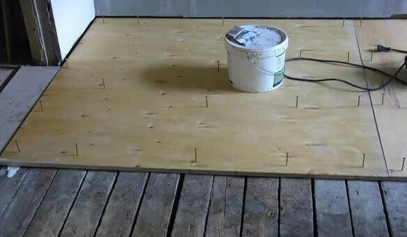 Подготовка чернового деревянного пола для укладки ламината по диагонали