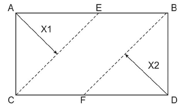 Схема для расчета количества ламината при укладки его под углом