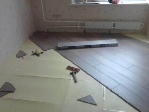 Укладка ламината по диагонали от центра комнаты