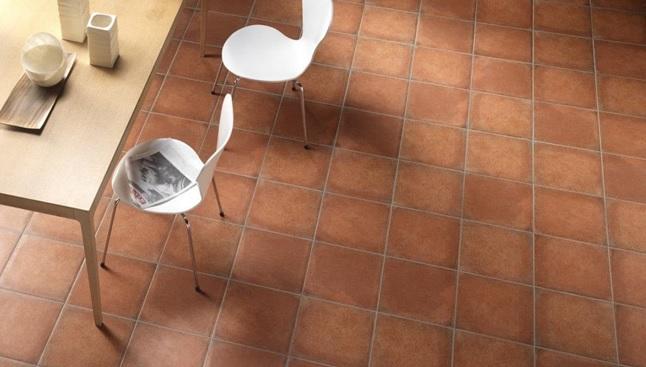 напольная плитка каттафорте в интерьере кухни