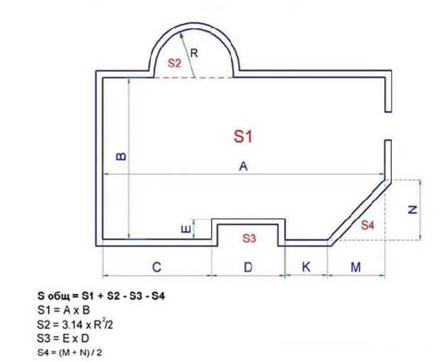 Схема расчета ламината на не стандартную комнату